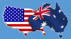 Australian and USA flags