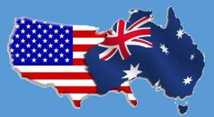 Australian and USA flags